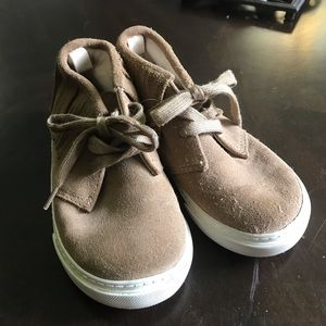 Tan suede shoes